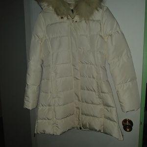 Jackets & Blazers - Women white winter parka jacket
